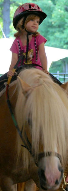 4 to 6-year old riders at Pretty Pony Pastures